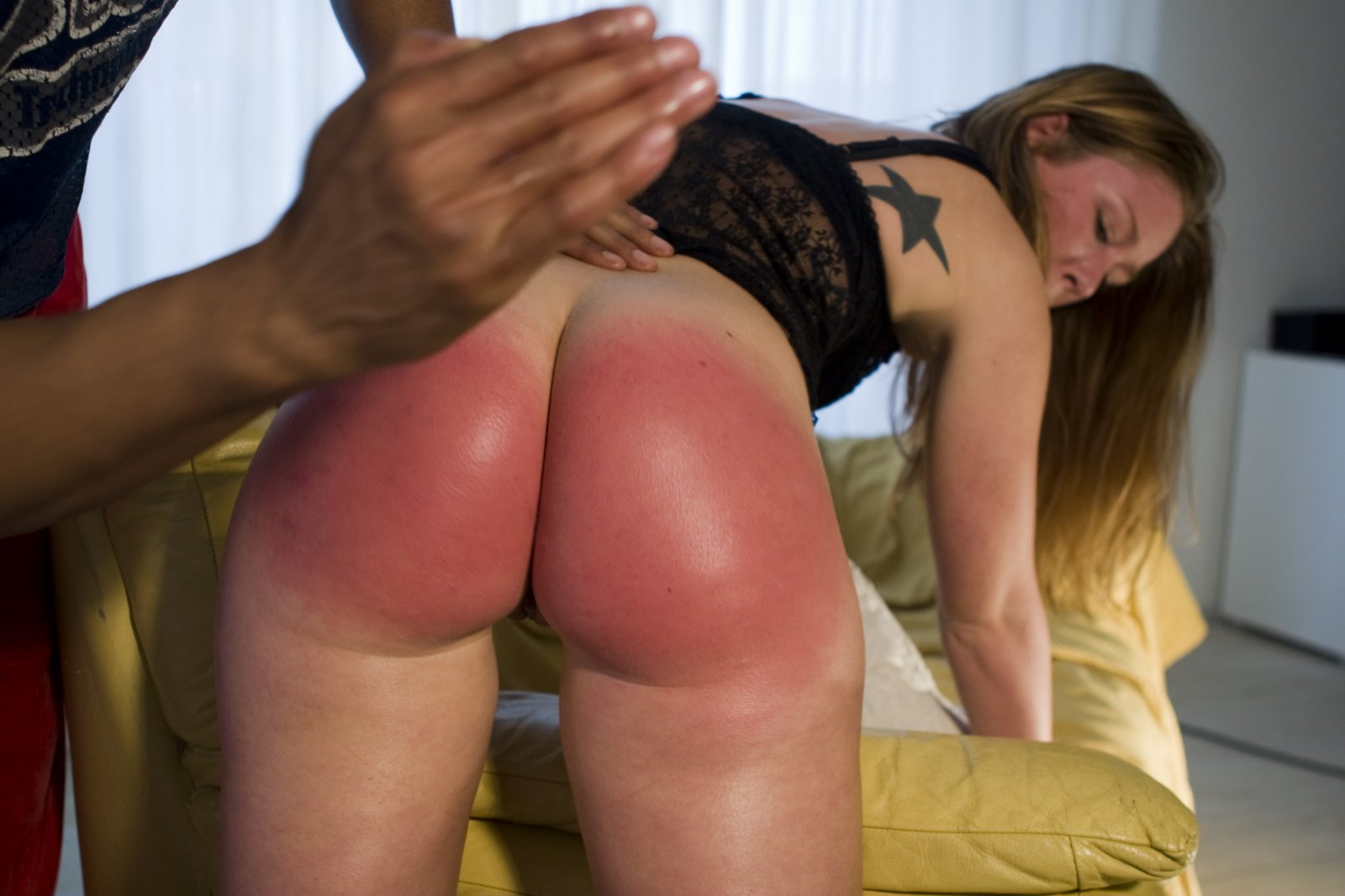 female bottom spank