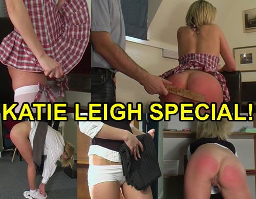 KATIE LEIGH – New Updates and First New FREE Spanking Galleries