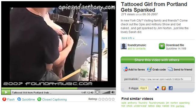 Comedy spanking clip