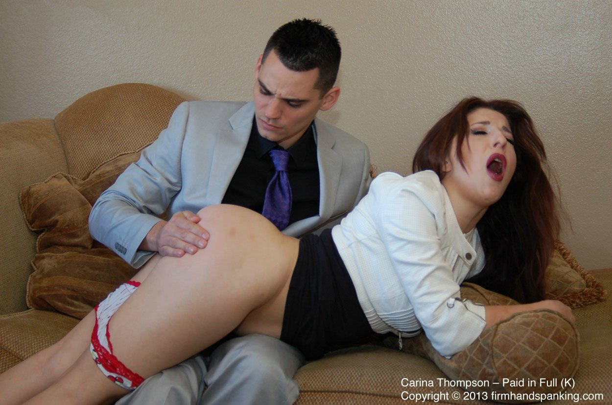 Carina Thompson pays off $400 with a spanking