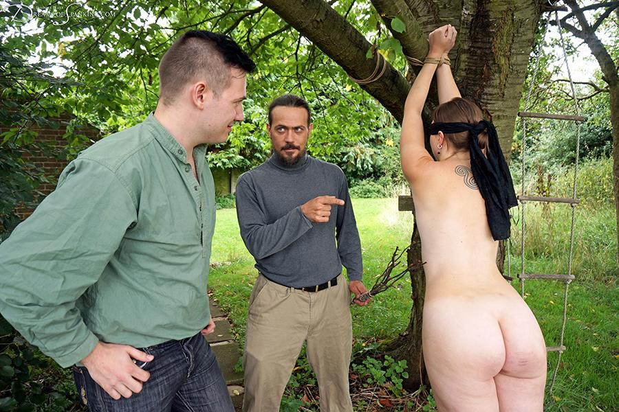 Outdoor spanking porn pics