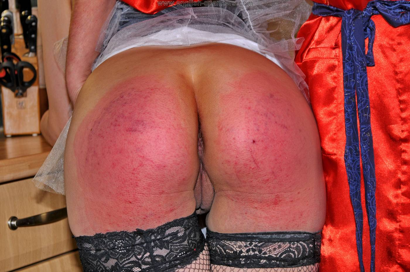 Spanked over panties