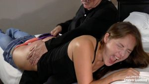 tearful spanking